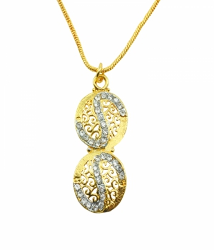 Aakshi Plated Gold Necklace AKS_NK_EDOL