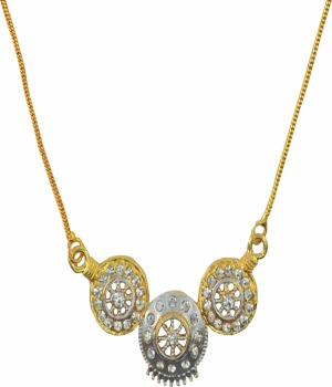 Aakshi Dual Tone Diamond  Necklace AKS_NK_PKC