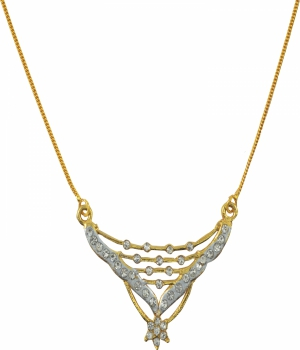 Aakshi Dual Tone Diamond  Necklace AKS_NK_SKC