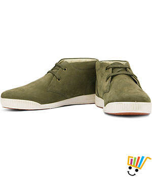 Woodland Boots High Ankle - Olive Green
