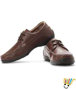 Woodland Genuine Leather Lace Up Shoes-Brown 1151112W13