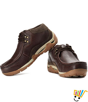 Woodland Outdoor Shoes Cushioned Ankle - Dbrown