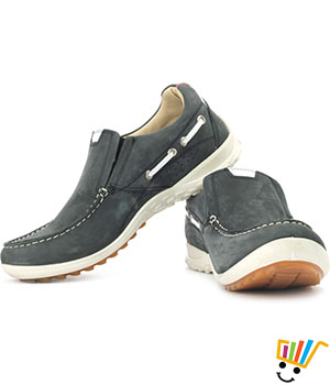 Woodland Outdoor Shoes Cushioned Ankle-Navy