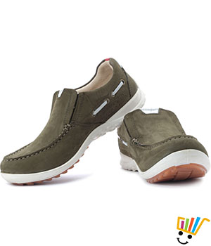 Woodland Outdoor Shoes Cushioned Ankle-Olive