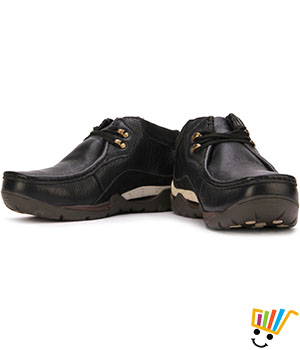 Woodland Outdoor Shoes Padded and Textured Footbed - Black