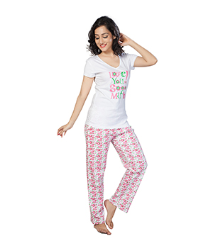 Clifton Womens Love U So Much Pyjama Set AAA00012898-903