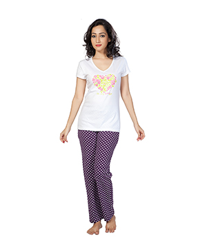 Clifton Womens Floral Heart Pyjama Set AAA00012908-912