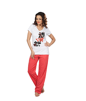 Clifton Womens Lovely Heart Pyjama Set AAA00013117-121
