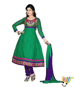 Fabdeal Semi-Stitched Salwar Suit GMEDR8002LK