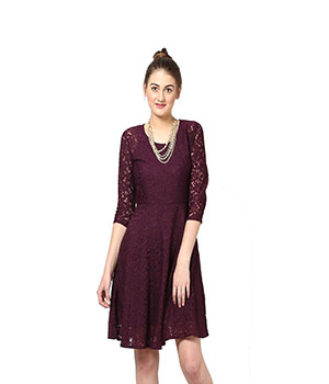 Eavan Wine Lace dress EA705