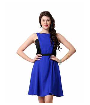 Eavan Royal Blue Fit&Flare Dress EA805