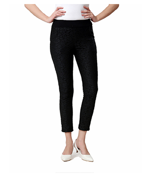 Eavan Black Lace jeggings EA858