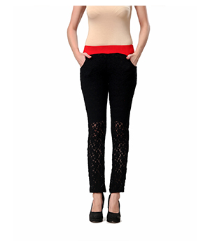 Eavan Black Lace jeggings EA859