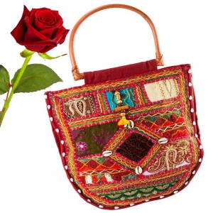 Traditional Mirror Work Exclusively Rajasthani Style Shoulder Bag DLV5BAG116
