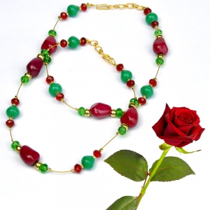 Alluring Red Green Ethnic Brass Payal Designer Girls Anklet Jewellery Valentine Gift DLV5BPY117