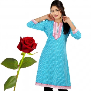 Exclusive Fancy Designer Girls Blue Kurti Woman Kurti Valentine Gift DLV5KUR530