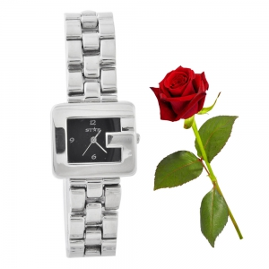 Unique Designer Looking Square G Shape Glossy Finish Ladies Watch Valentine Gift DLV5WCL220