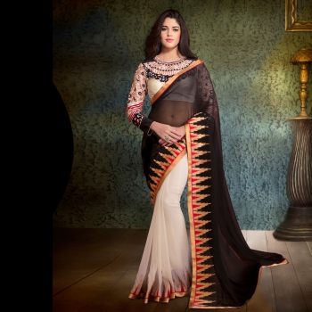 Club Art Decor Designer Black Saree on a PURE NATURAL FABRICS by A kumar Art Decor29001