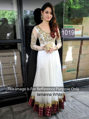 Riwaz Collection Tamanna White Anarkali Suit RWZC-1019