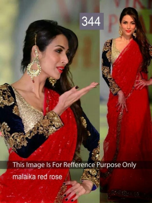 Riwaz Collection Malaika Arora Red Bollywood Saree RWZC-344