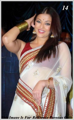 Indian Bollywood Designer Replica Sarees Of Aishwarya Rai VF-14