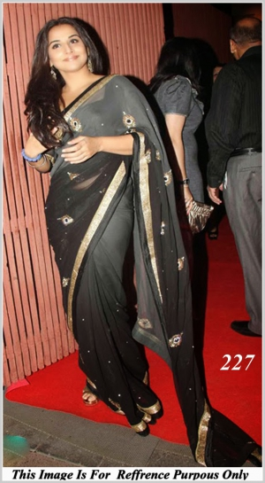 Bollywood Replica Vidya Balan Designer Saree VF-227