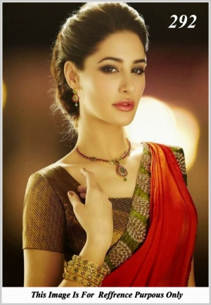 Nargis Fakhri Red Saree At Indian Bridal Jewelry VF-292