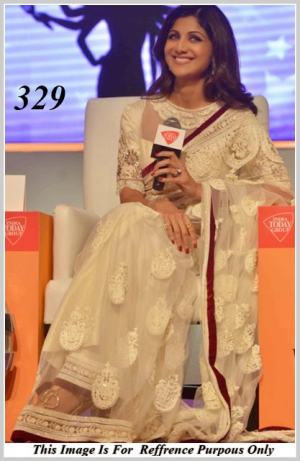 Shilpa Shetty Looking Attracts In White Sheer Saree VF-329