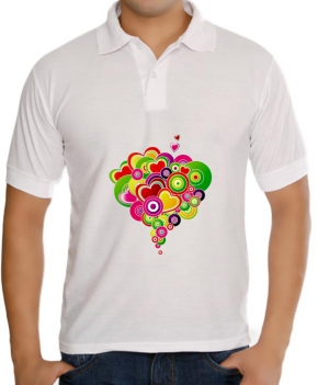 meSleep Abstract heart T-Shirt Dry Fit bts-03-117