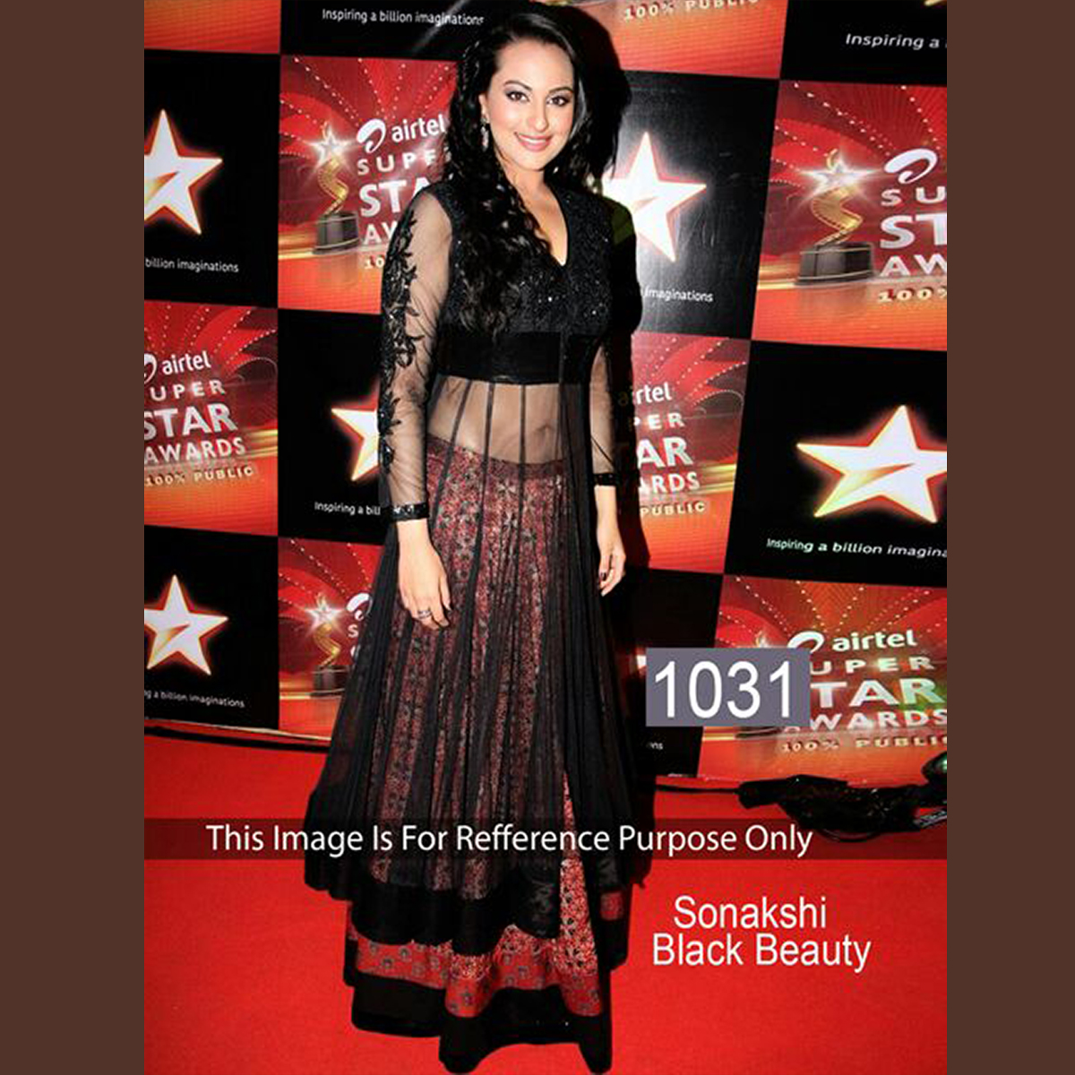 Sonakshi Sinha Stunning Party Wear Black Dress ET-1031
