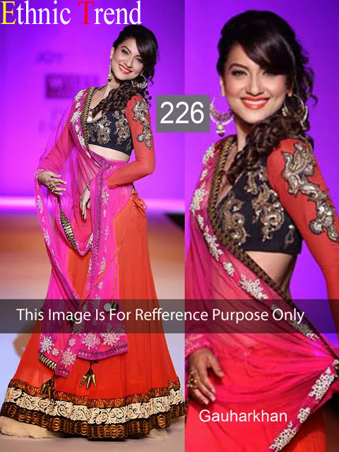 Glorious Gauhar Khan In Georgette Party Wear Lehenga ET-226