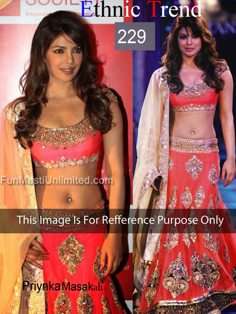 Graceful Priyanka Chopra Pink Lehenga ET-229
