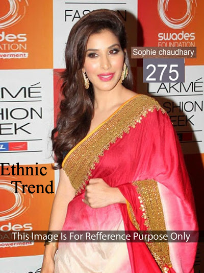 Sophisticated Sophie Bollywood Replica Chiffon Padding Saree ET-275