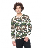 Clifton Mens Army V-Neck Full Slevee T-shirt AAA00017702