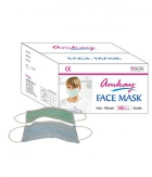 AMKAY Face Mask 3 ply Elastic - Loop Color Green Bulk Box 100Pcs Per Box AM009