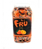 FRU Juicy Jelly Candy Orange Jar 760 gram A BABA Product BA010