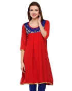 Designer Party Wear Regular Fit Kurti KRT6032