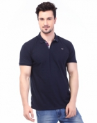 Rugby Mens Half Sleeve T-Shirt with Chest Embroidery RG-02_NAVY
