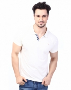 Rugby Mens Half Sleeve T-Shirt with Chest Embroidery RG-02_O.WHITE