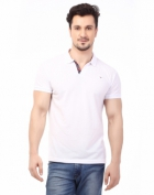 Rugby Mens Half Sleeve T-Shirt with Chest Embroidery RG-02_WHITE