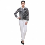 Varanga Black And White Check Top KFAWWL1017