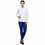 Varanga Solid White Shirt With Zipper Pocket KFAWWL1020