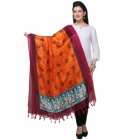 Varanga Pink And Orange Designer Dupatta KFBG111