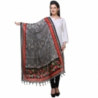 Varanga Black And Red Designer Dupatta KFBG112