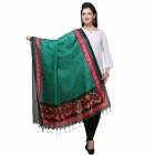 Varanga Green And Red Designer Dupatta KFBG113