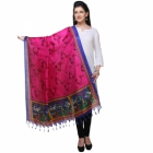 Varanga Pink And Navy Blue Designer Dupatta KFBG114
