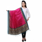 Varanga Pink And Multicolor Designer Dupatta KFBG118
