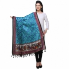 Varanga Blue And Multicolor Designer Dupatta KFBG119