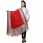 Varanga Red And Multicolor Designer Dupatta KFBG125