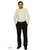 DLR Plain White Slim Fit Formal Shirt SF-DLR-1056 by Shubham Fashions